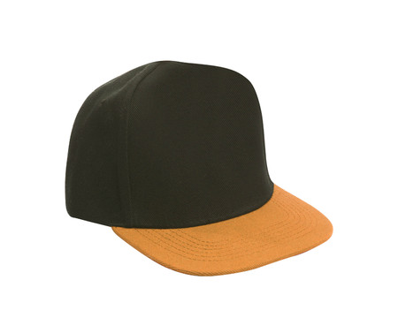black and orange baseball hat Stock Photo