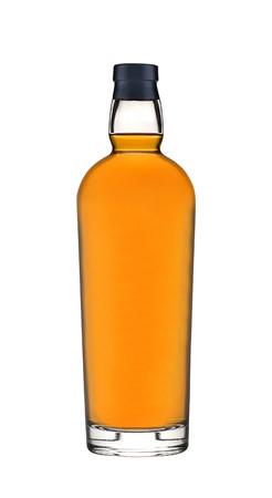 wisky bottle on white background Banque d'images