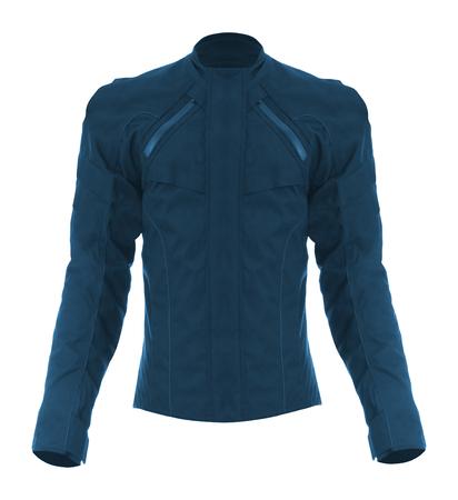 biker jacket, isolated on white Stock Photo