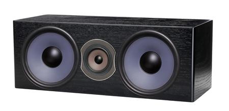 Audio speaker on white Stock Photo