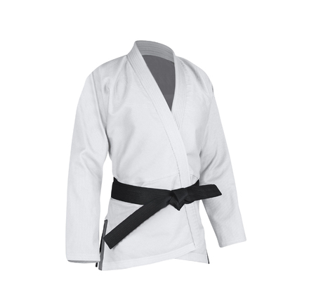 Judogi with black belt 版權商用圖片