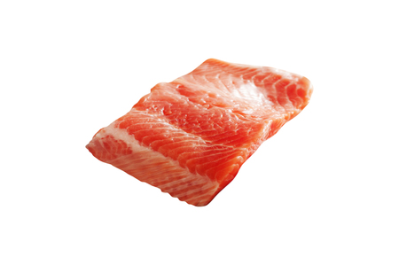 Salmon fillet isolated on white Banco de Imagens - 105572560