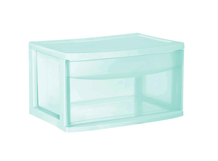 plastic container isolated on white Banco de Imagens - 105572652