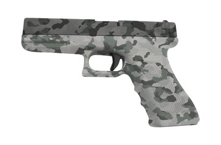 Glock automatic 9mm handgun pistol isolated on white