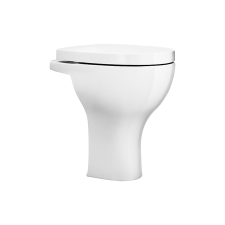 White toilet bowl isolated on white background 版權商用圖片