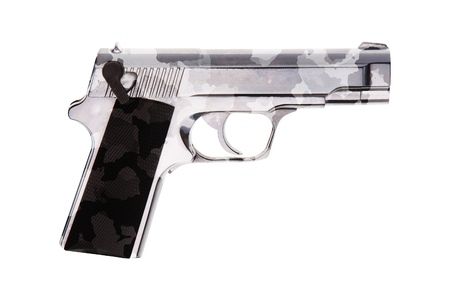 automatic 9mm handgun pistol Stock Photo