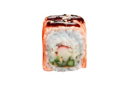 traditional fresh japanese sushi isolated