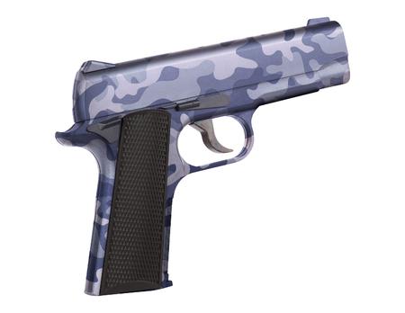 automatic 9mm handgun pistol isolated Stock Photo
