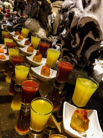 Glasses of juice