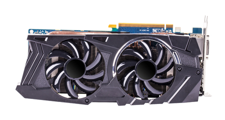 Professional video card isolated 스톡 콘텐츠