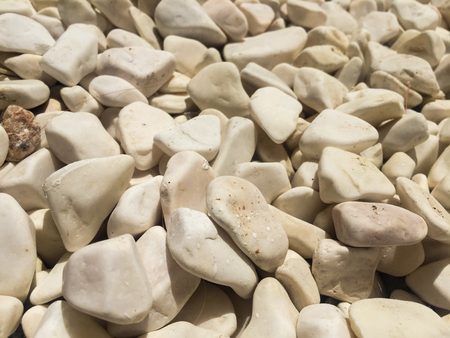 white pebble background