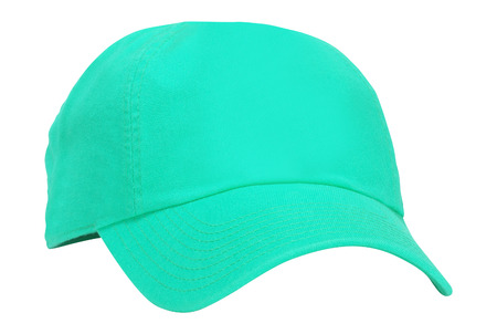 Green cap isolated on white Stock Photo