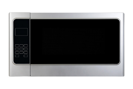 white microwave oven isolated