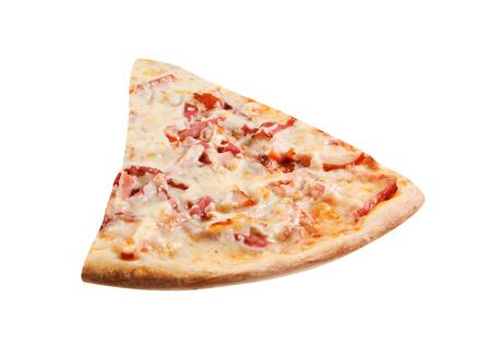 pizza slice isolated on white background Stock Photo
