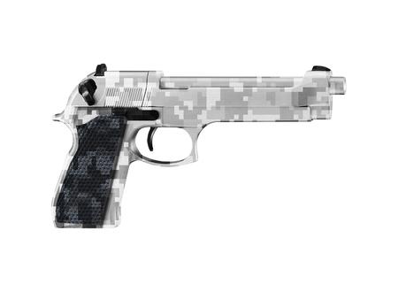 Handgun isolated on white 版權商用圖片
