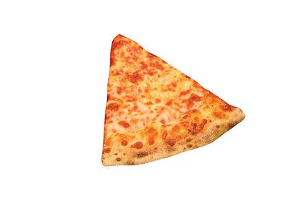 pizza slice isolated on white Stock Photo