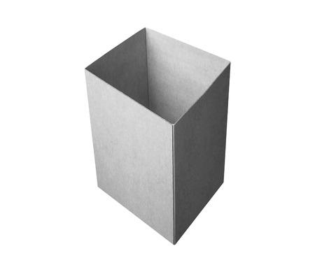 box made of cardbord isolated on white