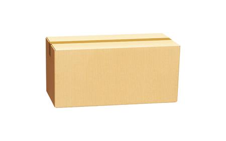 box made of cardbord isolated