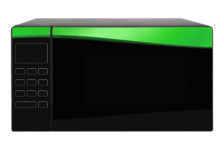 green microwave oven isolated