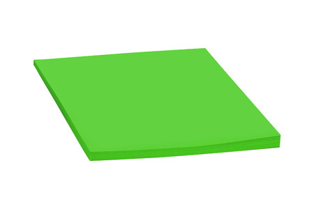 green sticky post notes isolated
