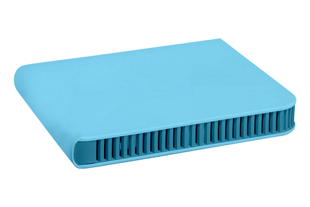 blue router isolated on white