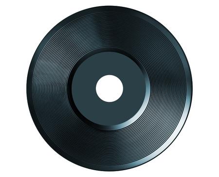 retro vinyl audio record isolated