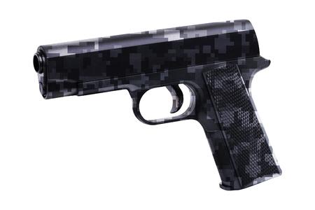 Handgun isolated on white background