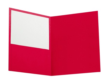 red folder isolated on white Stock Photo