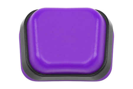 purple push button isolated