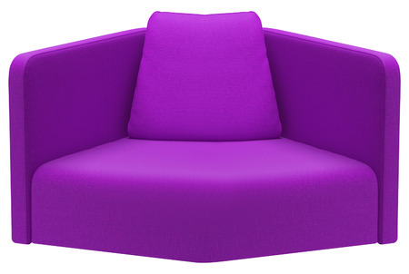 Modern purple sofa isolated on white