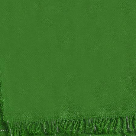 Green textile napkin on white Stock Photo