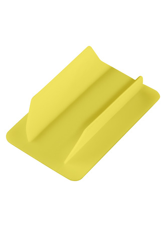 Yellow plastic card isolated