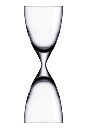 Hourglass isolated on white 스톡 콘텐츠