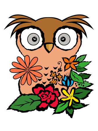 flower and Owl