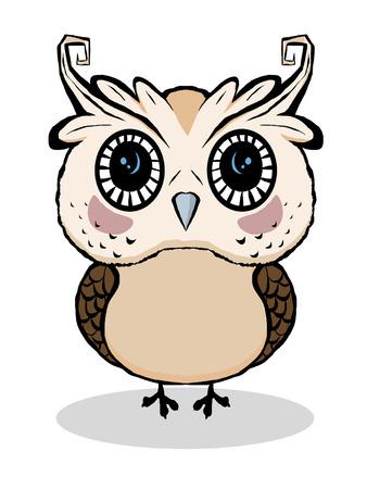 Cute Owl vector cartoon