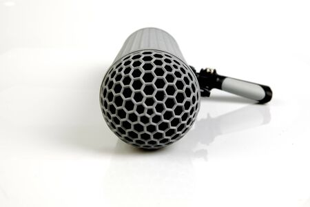 over white background: Boom Microphone over white background Stock Photo