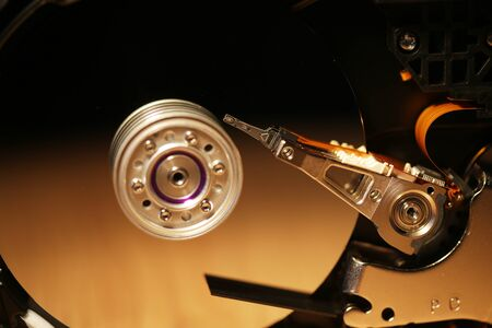 hard drive: Open hard drive