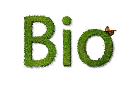 Bio text on white background