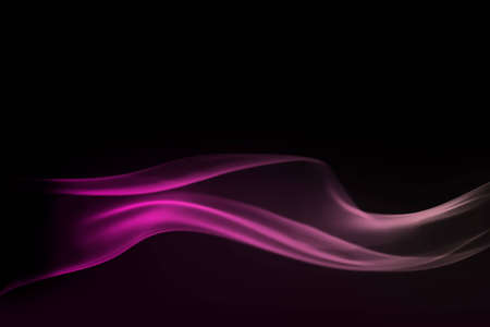 Pink wave of smoke against a black background
