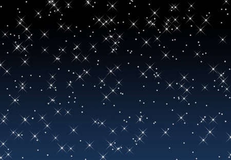An illustration of stars against a gradient blue background