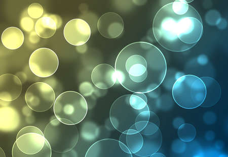 Festive holiday blue and yellow bokeh lights  Stock Photo - 5851647