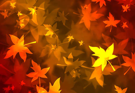 A fantastic fall background with orange and golden leaves