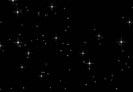 An illustration of stars against a black background