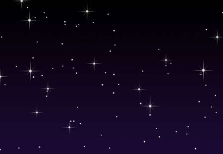 An illustration of stars against a gradient pruple background