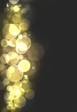 A yellow bokeh burst background Stock Photo