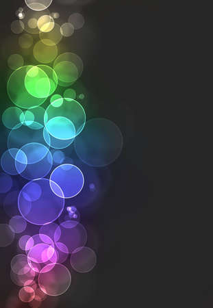 Colorful bokeh burst background