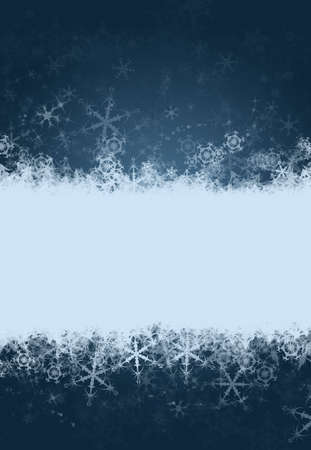 Winter holiday snowflake background with space for text