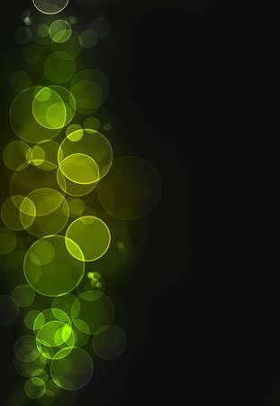 Colorful green bokeh burst background Stock Photo