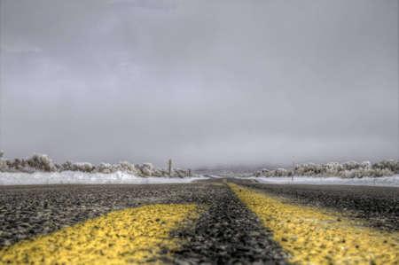 A winter road Banco de Imagens