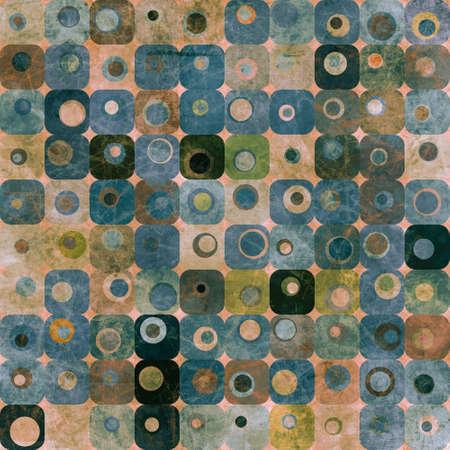 Abstract squares and circles